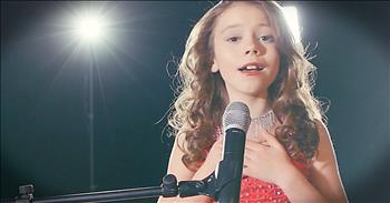 'Angel On My Shoulder' - Young Girl Sings Gospel Tune