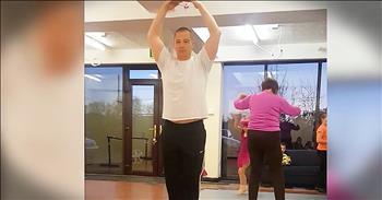 Military Dad Joins Daughter For Ballet Class