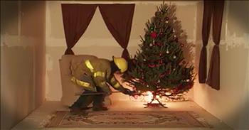 Simulation Warns On Dangers Of Christmas Tree Fire