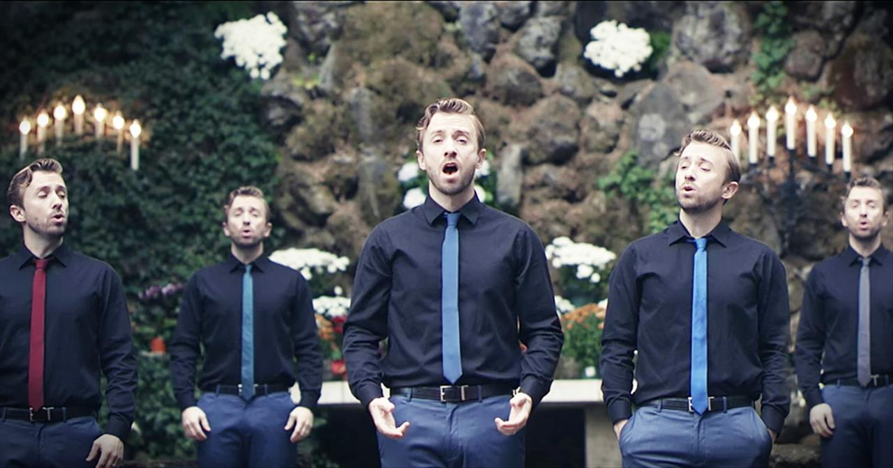 One Man Sings A Cappella 'O Come O Come Emmanuel'
