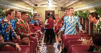 Amazing Christmas Flash Mob On A Train