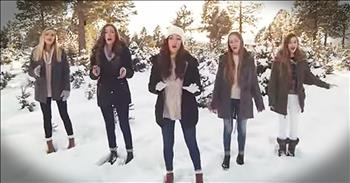 Sisters Perform 'Angels We Have Heard On High' In Snowy Forest