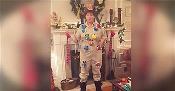 Mom Performs 'Carol Of The Bells' With Christmas Suit