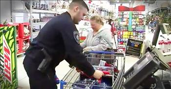Police Officer Pays It Forward With Struggling Family For Christmas