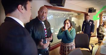 The Rock Brings Soldier Home For Christmas