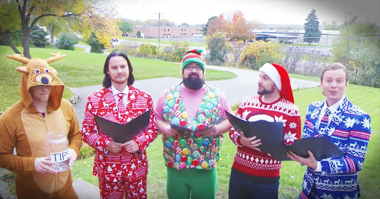 Home Free Sings 'Grandma Got Run Over By A Reindeer'