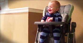 Baby Cannot Stop Laughing At Trash Bags