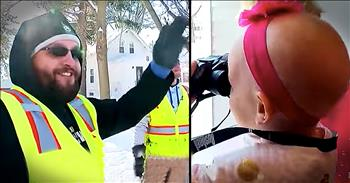3-Year-Old With Cancer Befriends Garbage Men