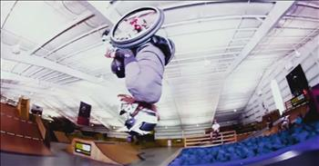 Wheelchair-bound Woman With Cerebral Palsy Does The First Wheelchair Blackflip