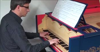 Stringed Keyboard Instrument Designed By DaVinci Built And Played For The First Time