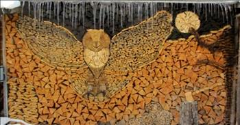 Who Knew Log Piling Could Be Turned Into Such Incredible Art?