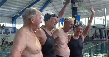 86 to 93 Year-Old Super-Senior Swimming Team Break World Record And Astound All