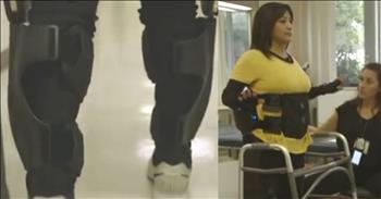 Car Crash Victim Walks Again With The Help Of A Robotic Skeleton