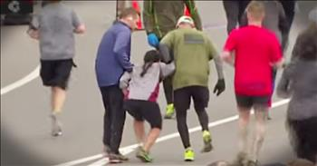 Strangers Help Runner Who Collapses Before Finish Line