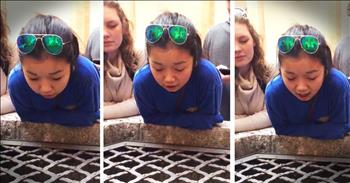 Girl Sings 'Hallelujah' Into A Well With A Crazy Echo