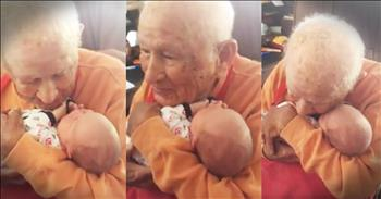 105-Year-Old Meets His 5-Day-Old Great Grandson