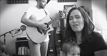 Family Sings A Cappella Rendition Of 'The Old Rugged Cross'