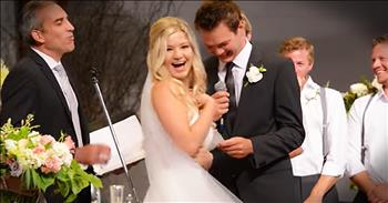 Groom Has Hilarious Flub While Reciting Vows At Wedding