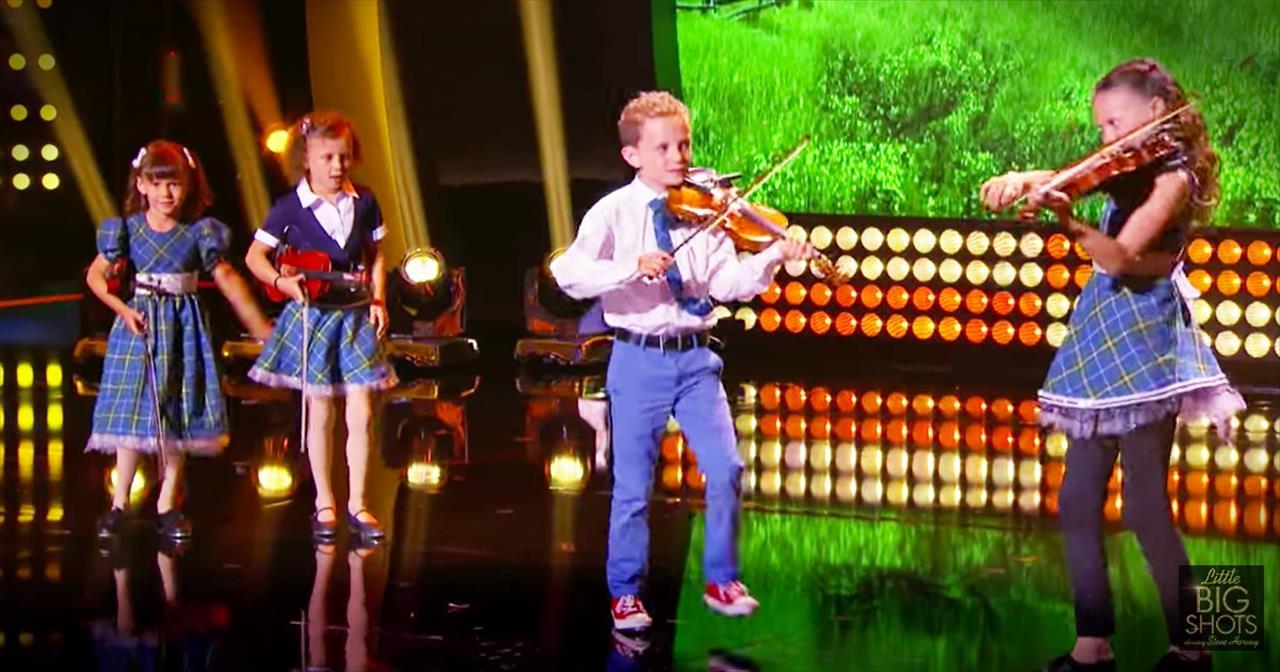 Tiny+Irish+Dancing+Celtic+Band+Performs+On+Little+Big+Shots
