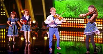 Tiny Irish Dancing Celtic Band Performs On Little Big Shots