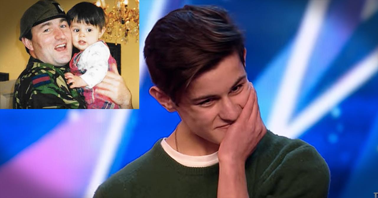 Father+Surprises+Son+Before+Britain%27s+Got+Talent+Audition