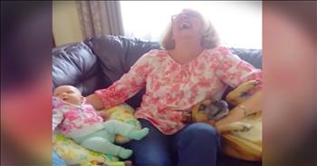 Dog Wants To Be The Family Baby
