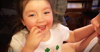 Little Girl Has Sweet Reaction Mommy's Pregnancy