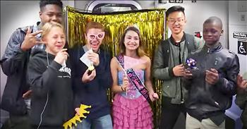 Surprise Sweet Sixteen Birthday On The Subway