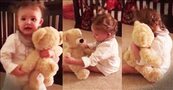 Little Girl Hears Deployed Dad's Voice In Teddy Bear