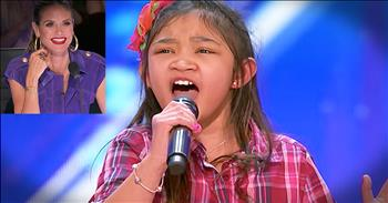 9-Year-Old Girl With Big Voice Sings 'Rise Up' Audition