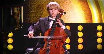 Little Big Shot Showcases His Amazing Cello Skills