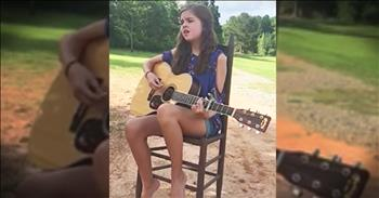 Young Girl Sings 'Go Rest High On That Mountain'