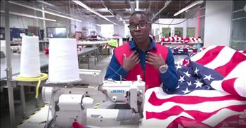 Boy Makes Flags For Fallen Heroes