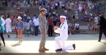 July 4th Sailor And Soldier Proposal
