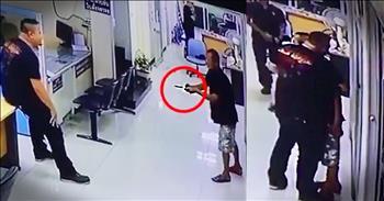 Police Officer Hugs His Attacker