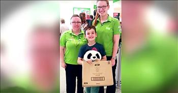 Grocery Store Workers Act Of Kindness For Boy
