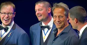 Mike Rowe Sings With Barbershop Quartet