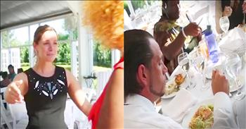 Bride Invites Homeless To Reception Dinner