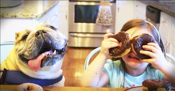Bulldog And 4-Year-Old Are Best Friends