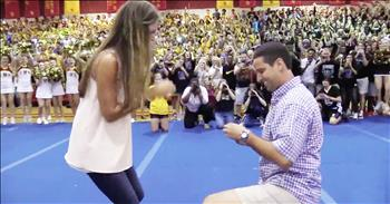 High School Teacher Proposes During Pep Rally