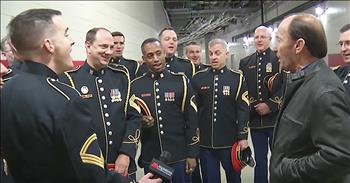 Lee Greenwood And Army Chorus Sing 'God Bless The USA'