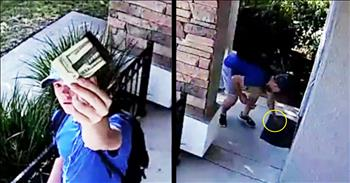 Surveillance Video Shows Teen Returning Lost $1500