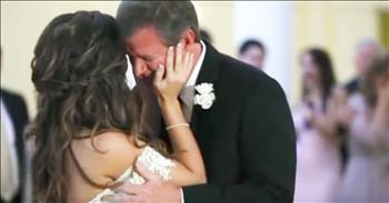 Dad Cries During Wedding Dance