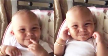 Baby's Laugh Sounds Like A Chipmunk