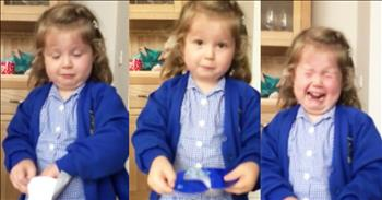 Little Girl Has Funny Reaction To Mom's Pregnancy