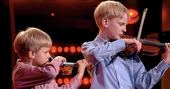 2 Brothers Share Violin Talent With The World