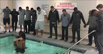 Football Player Baptized In Hotel Pool