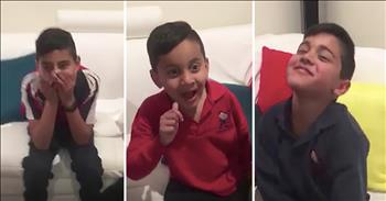 3 Brothers Jump For Joy At Gender Reveal