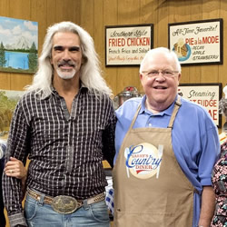 "Guy Penrod visits ""Larry's Country Diner"""