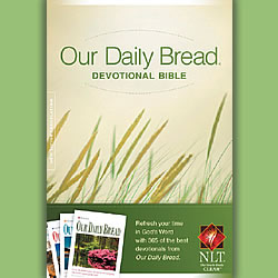 """Our Daily Bread Devotional Bible"""